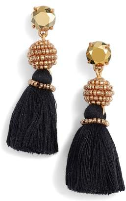 J.Crew Bead & Tassel Drop Earrings