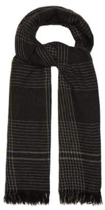 Co Begg & Kishorn Check Cashmere Scarf - Mens - Grey