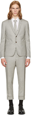 Thom Browne Grey Wool High Armhole Suit $2,590 thestylecure.com