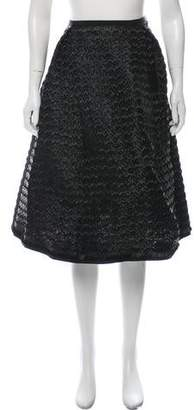 Tia Cibani Pleated Raffia Skirt