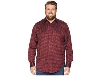 Robert Graham Big Tall Harris Shirt (Burgundy