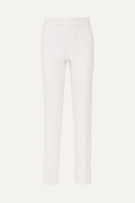 Helmut Lang Hemp And Cotton-blend Tapered Pants - White