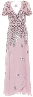 Temperley London Starlet embroidered chiffon dress