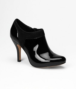 Bonnie Patent/Suede Bootie by Arturo Chiang