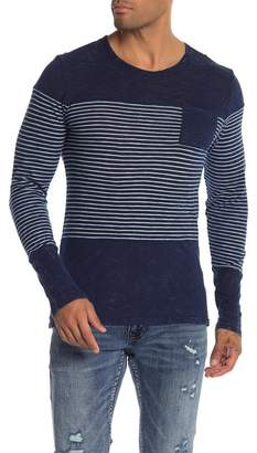 Knowledge Cotton Apparel Indigo Long Sleeve Shirt