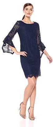 Sangria Women's Medallion Lace Shift Dress