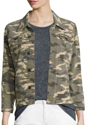 True Religion Nora Camo-Print Denim Jacket $179 thestylecure.com