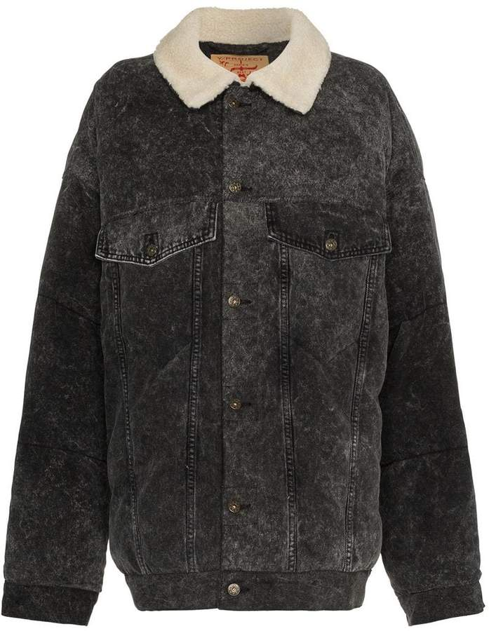 Buy Y / Project denim puffer jacket!