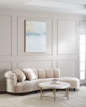 "Haute House Faye Channel Tufted Sofa 120"""
