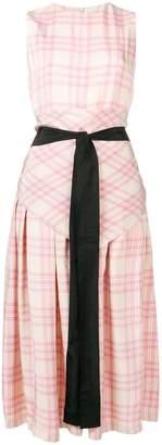 Sara Lanzi checked print dress