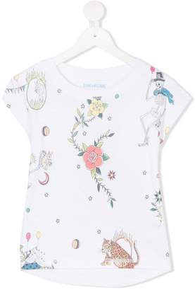Zadig & Voltaire Kids printed T-shirt