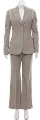 Stella McCartney Pinstripe Wide-Leg Pantsuit