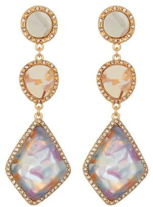 BaubleBar 3 Tier Resin Drop Earrings