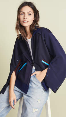 Facetasm Collared Cape Sleeve Jacket