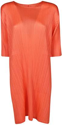 Pleats Please Issey Miyake Short -sleeve Shift Dress