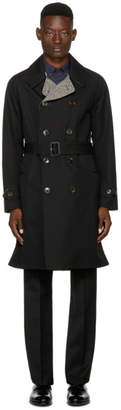 Burberry Reversible Black Tweed Delaney Trench Coat