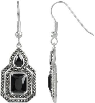 Lavish By Tjm Lavish by TJM Cubic Zirconia & Marcasite Silver Tone Drop Earrings