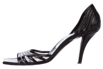 Roger Vivier Patent Leather Multi-Strap Sandals