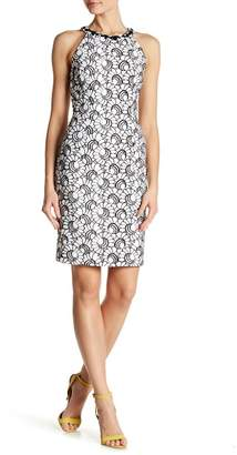 Nine West Floral Embroidered Halter Neck Dress