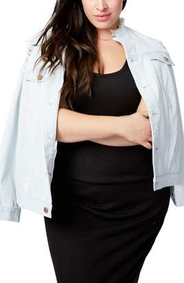 Rachel Roy RACHEL  Destructed Denim Jacket
