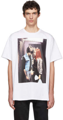 Raf Simons White Christiane F. Couple T-Shirt