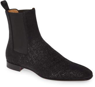 Christian Louboutin Roadie Orlato Glitter Chelsea Boot