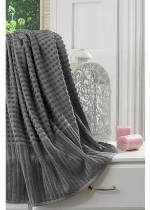 "Ottomanson Pure Cotton Collection 100% Authentic Towels Luxury Bath Sheet, 27"" X 55"", Grey"