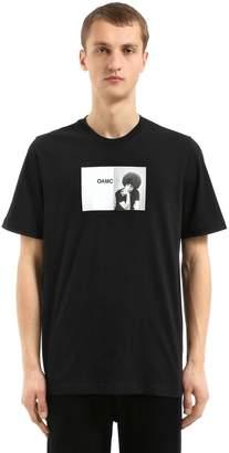 Oamc Davis Printed Cotton Jersey T-Shirt