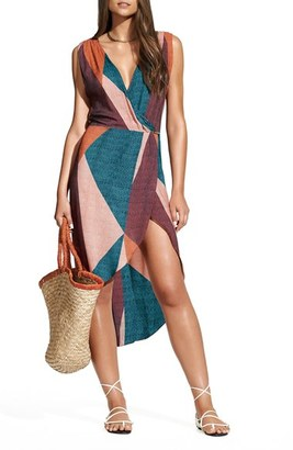 Women's Vix Swimwear Ananda Gisele Colorblock Caftan $198 thestylecure.com