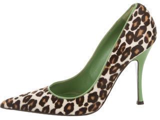 Alexander McQueenAlexander McQueen Leopard Print Pointed-Toe Pumps