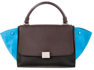 CelineCéline Small Tricolor Trapeze Bag