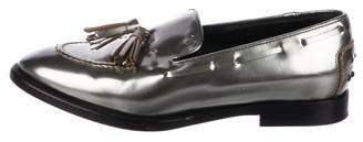 Tod's Metallic Leather Loafers