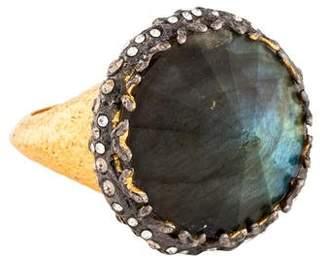 Alexis Bittar Labradorite & Crystal Cocktail Ring