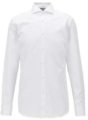 HUGO BOSS Slim-fit cotton shirt with double cuffs