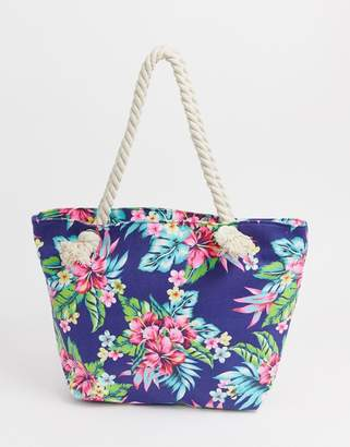 70f40fef9 South Beach tropical print tote bag