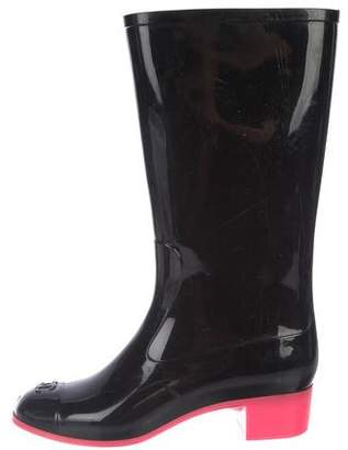 Chanel Rubber Mid-Calf Rainboots