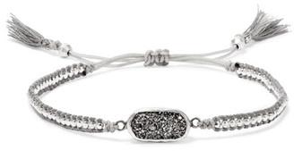 Chan Luu - Silver, Druzy Agate Bracelet - One size $105 thestylecure.com