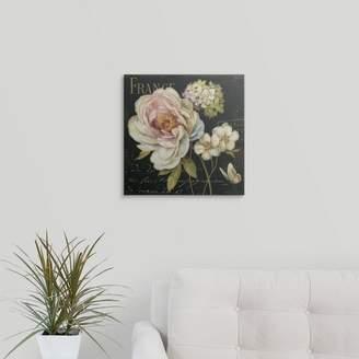 Great Big Canvas 'Marche de Fleurs on Black' by Lisa Audit Vintage Advertisement