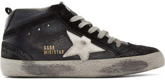Golden Goose Black Mid Star Sneakers