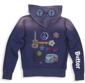 Butter Shoes Little Girl's& Girl's Embellished Zip Hoodie