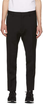 DSQUARED2 Black Wool Run Dan Fit Trousers
