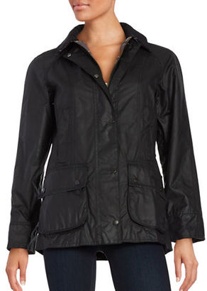 Barbour Beadnell Wax Jacket $399 thestylecure.com