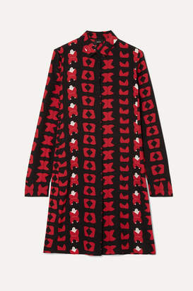 Akris Printed Silk Crepe De Chine Tunic - Red