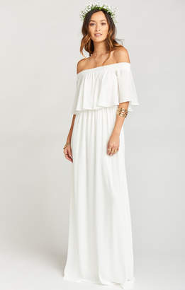 Show Me Your Mumu Hacienda Maxi Dress ~ Ivory Crisp