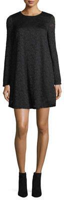 Neiman Marcus Long-Sleeve Lace A-line Dress