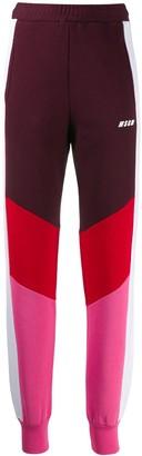 MSGM colour block track pants