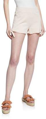 Amo Denim Side-Tie Cotton Shorts