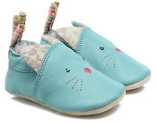 babybotte Kids's Chat - Moulin Roty Slippers In Blue - Size Uk 2 Infant / Eu 18
