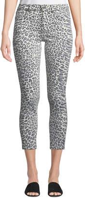 Current/Elliott The Stiletto Leopard-Print Skinny Jeans