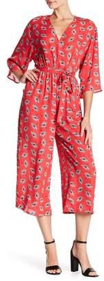 19 Cooper Kimono Sleeve Mock Wrap Jumpsuit
